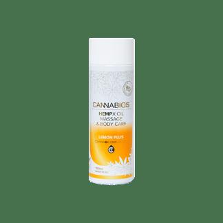 huile massage cbd et citron - huile massage cannabios x-oil lemon plus
