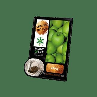 chanvre compressé, compress, amnesia, cbd, 3.8% cbd, plant of life, apple, pomme