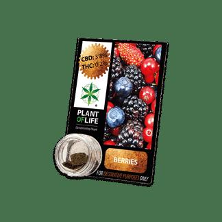 chanvre compressé, compress, amnesia, cbd, 3.8% cbd, plant of life, berries, fruits des bois